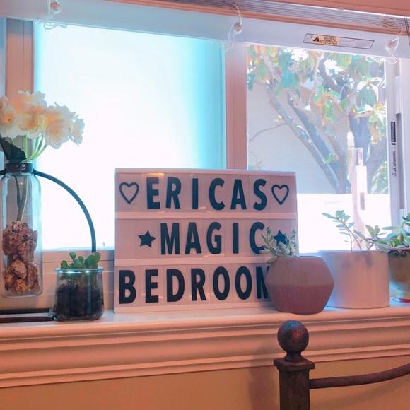 LED light box sign room decor